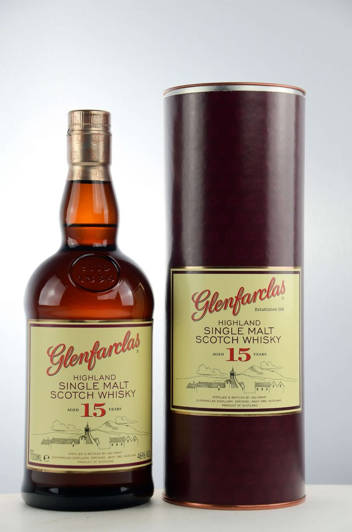 Glenfarclas 15 Jahre Single Malt Scotch Whisky 46,0% vol. - 0,7 Liter