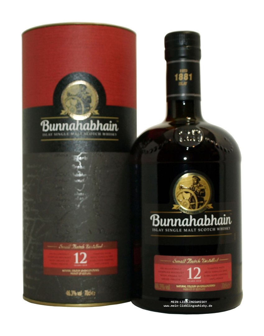 Bunnahabhain 12 Jahre Single Malt Whisky 46,3% vol. - 0,7 Liter