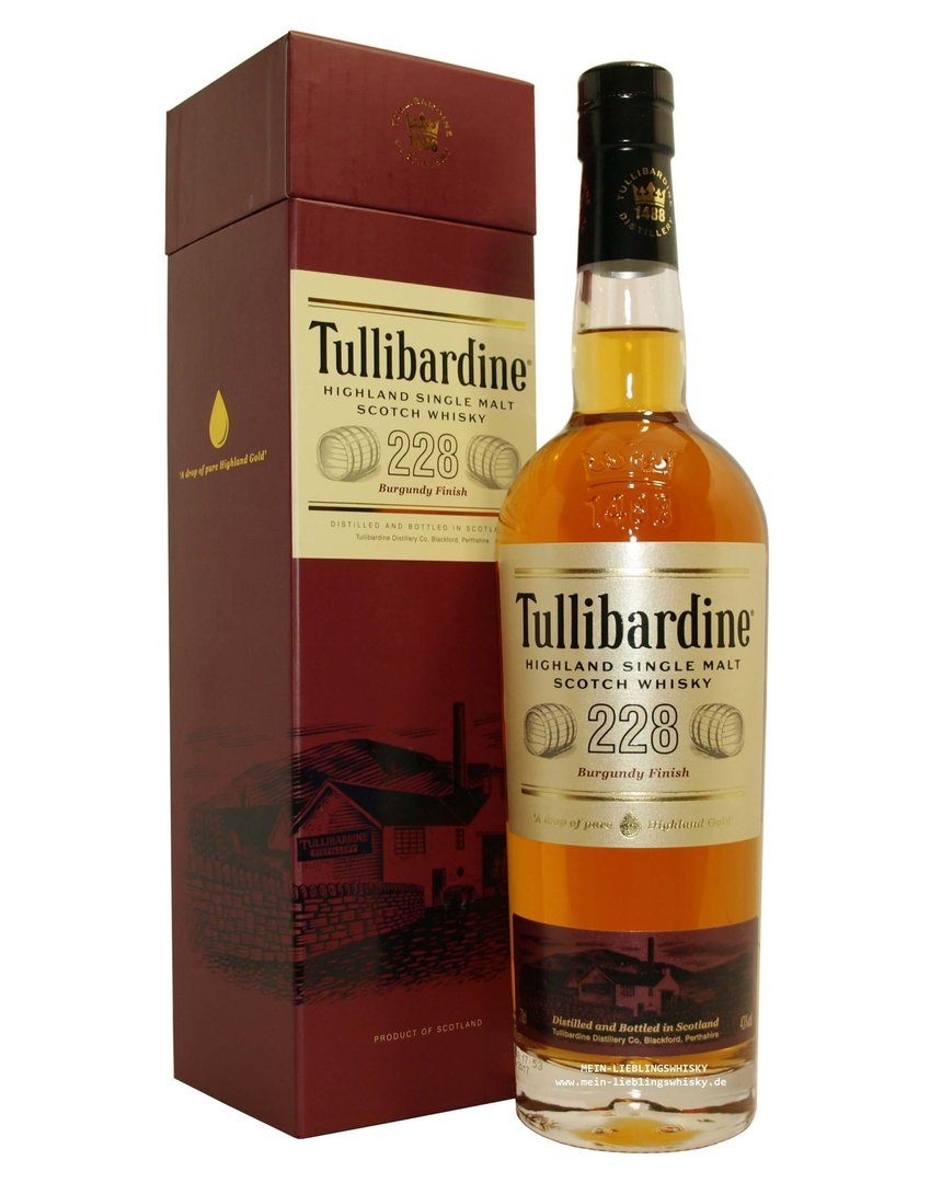 Tullibardine 228 Burgundy Finish 43,0% vol. - 0,7 Liter