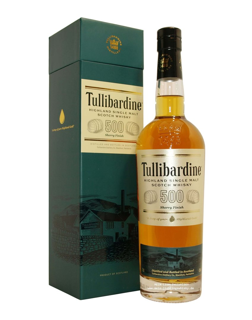 Tullibardine 500 Sherry Finish 43,0% vol. - 0,7 Liter