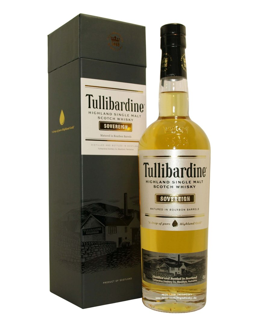 Tullibardine Sovereign Single Malt Whisky 43,0% vol. - 0,7 Liter