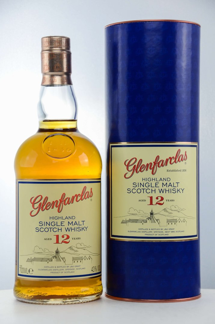 Glenfarclas 12 Jahre Single Malt Scotch Whisky 43,0% vol. - 0,7 Liter