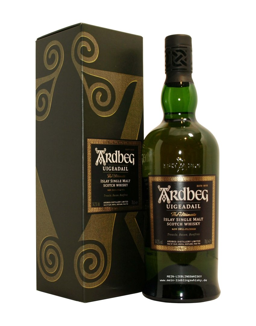 Ardbeg Uigeadail Islay Single Malt Whisky  54,2% vol. - 0,7 Liter