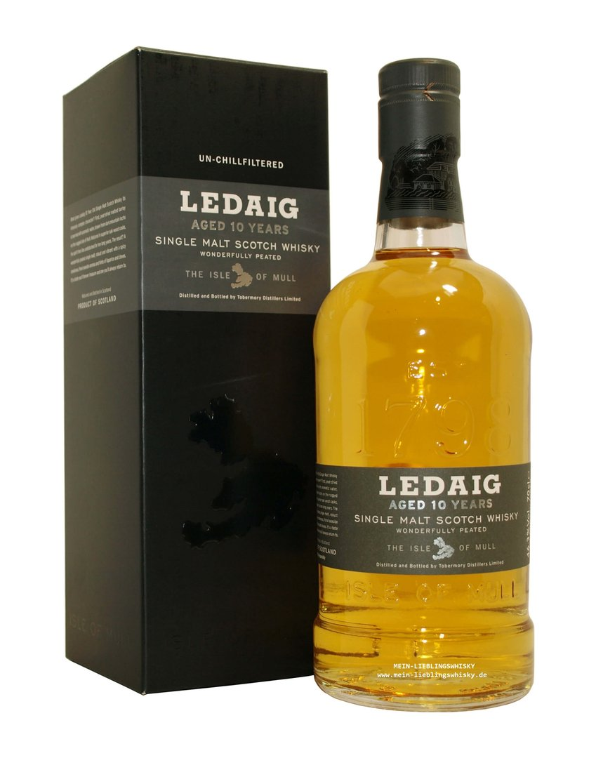 Ledaig 10 Jahre Single Malt Whisky 46,3% vol. - 0,7 Liter