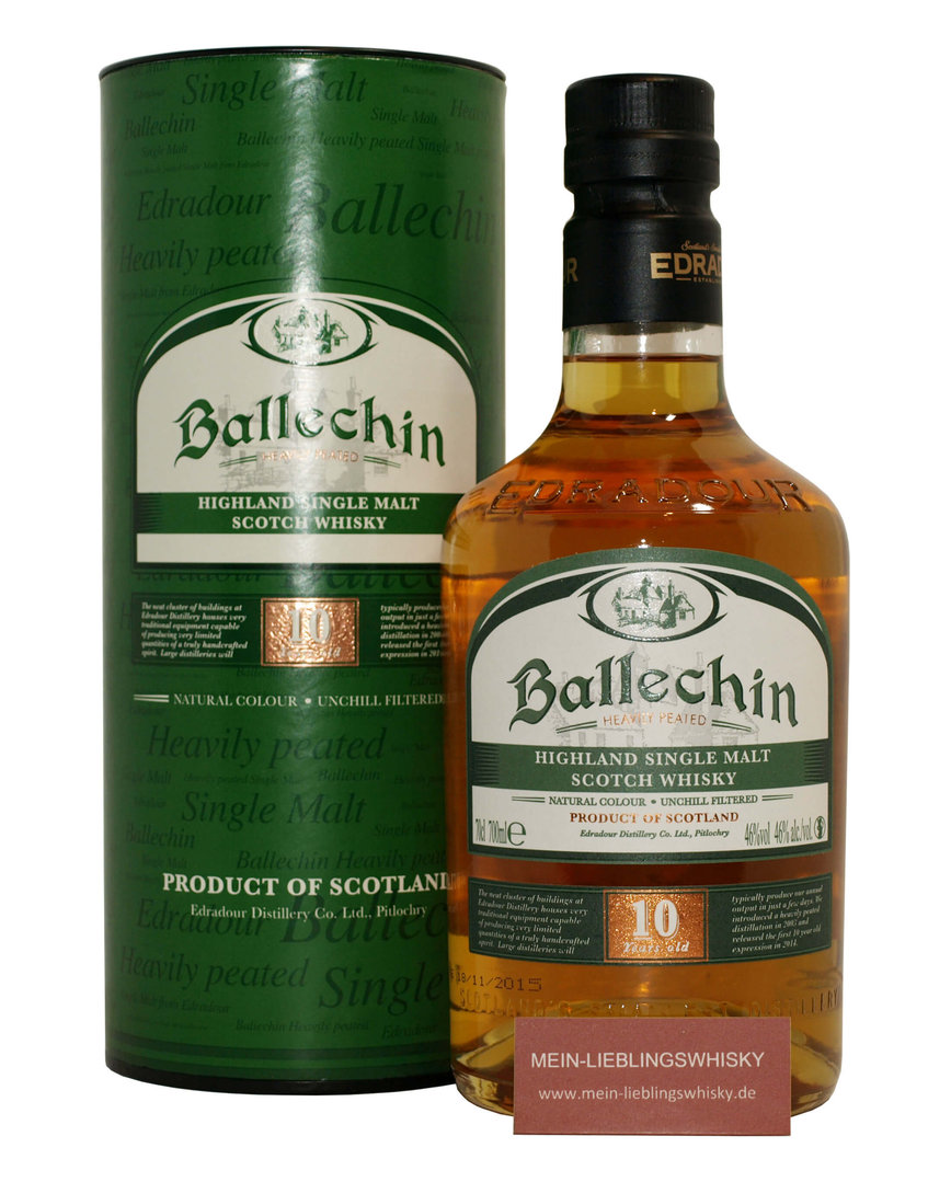 Ballechin 10 Jahre Single Malt Whisky 46,0% 0,7 Liter