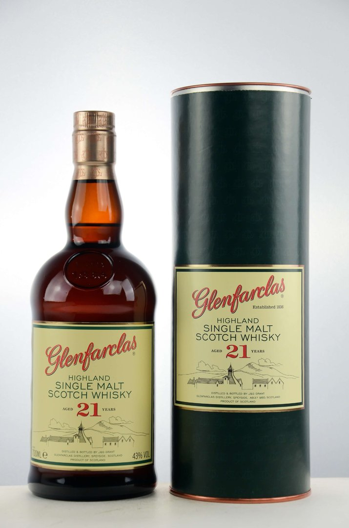 Glenfarclas 21 Jahre Single Malt Scotch Whisky 43,0% vol. - 0,7 Liter