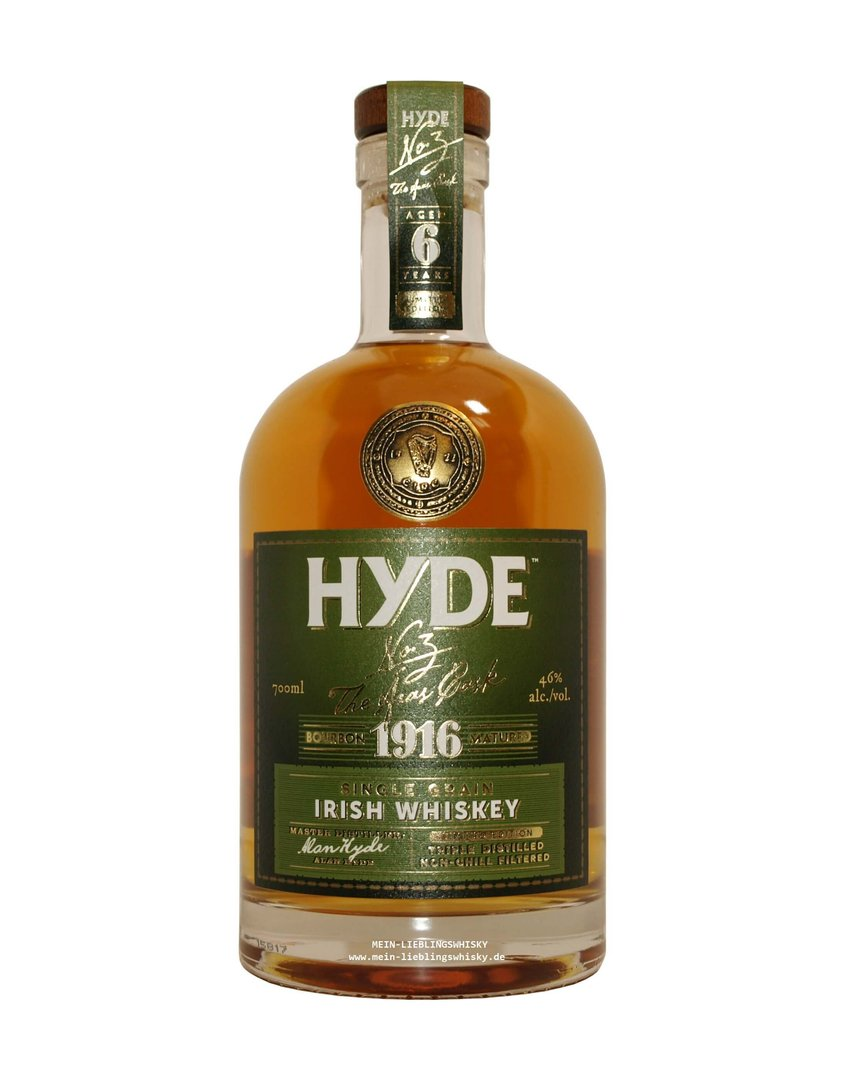 Hyde No. 3 Grain 6 Jahre Single Grain Whiskey 46,0% vol. 0,7 Liter