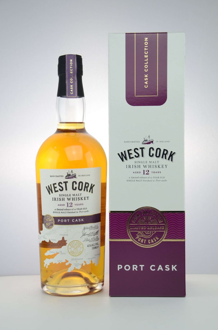 West Cork 12 Jahre Port Cask Single Malt 43,0% vol. - 0,7 Liter