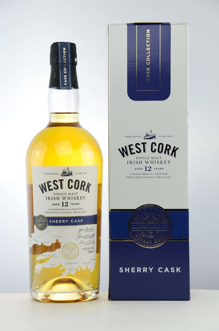 West Cork 12 Jahre Sherry Cask Single Malt 43,0% vol. - 0,7 Liter