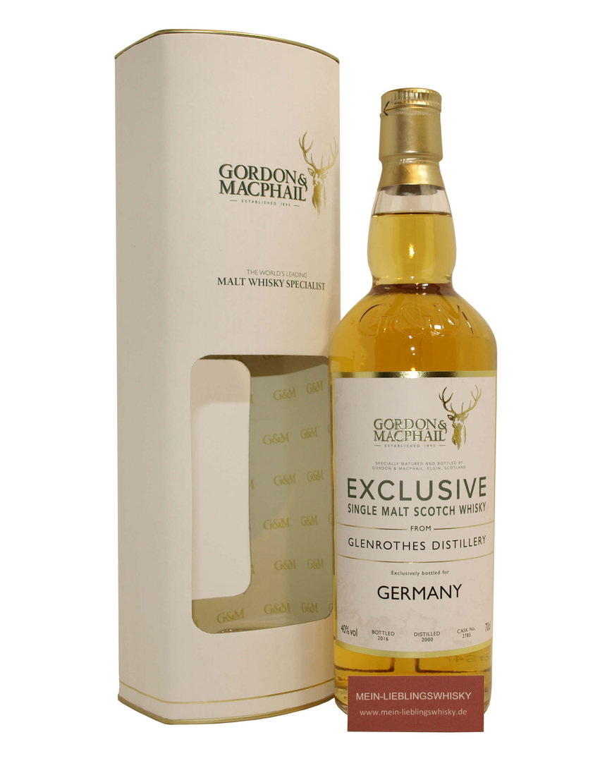 Gordon & MacPhail Glenrothes 2000/2016 Whisky 40,0% vol. - 0,7 Liter