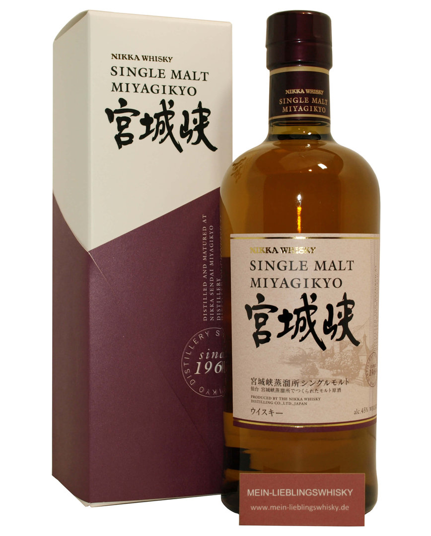 Nikka Miyagikyo Japan Single Malt Whisky - 45,0% vol. - 0,7 Liter