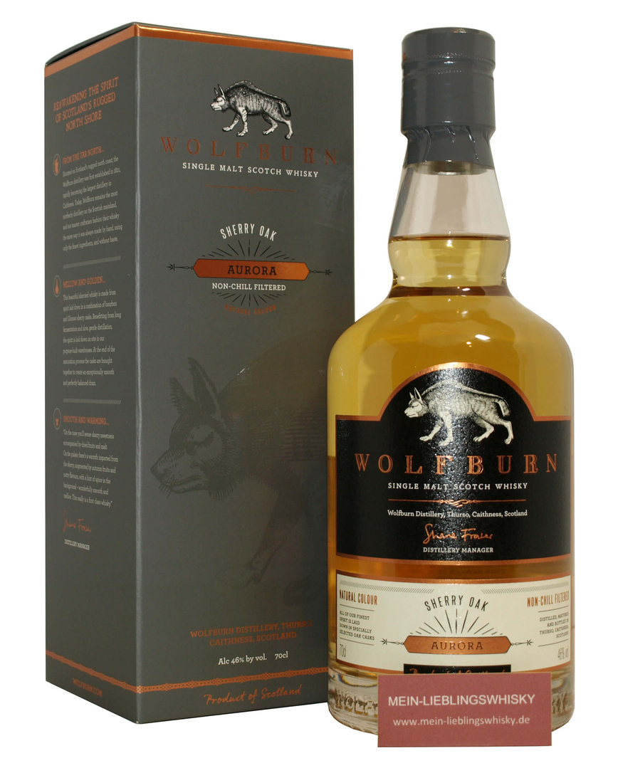 Wolfburn Aurora Single Malt Whisky 46,0% vol. - 0,7 Liter
