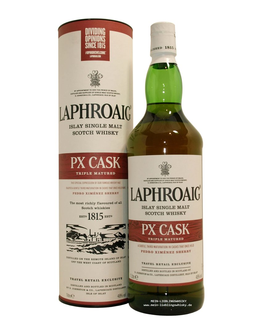 Laphroaig PX Cask Single Malt Whisky  48,0% vol. - 1,0 Liter