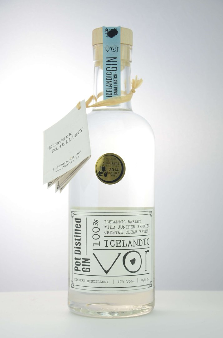 VOR - 100% Icelandic Pot Distilled Gin 47,0% vol. - 0,7 Liter