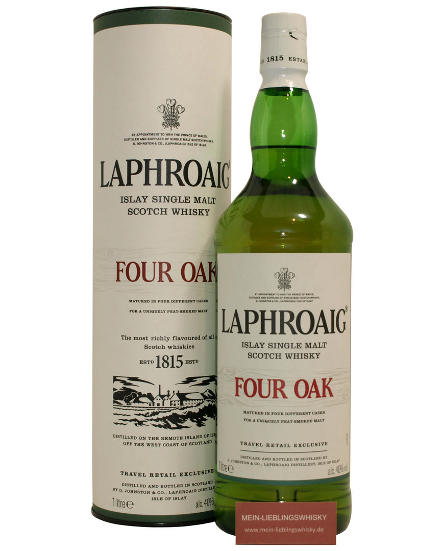 Laphroaig Four Oak Single Malt Whisky  40,0% vol. - 1 Liter