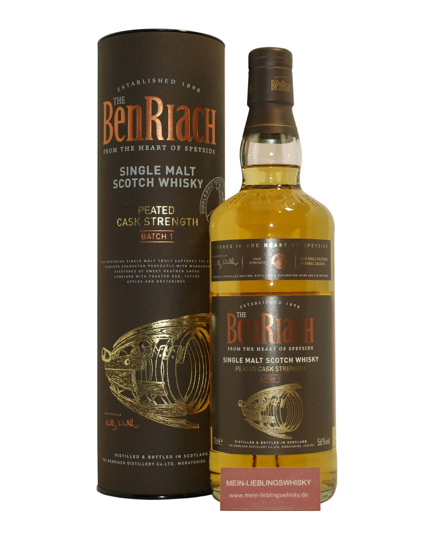 BenRiach Peated Quarter Cask Batch #1 Cask Strength 56,0% vol. 0,7 Liter