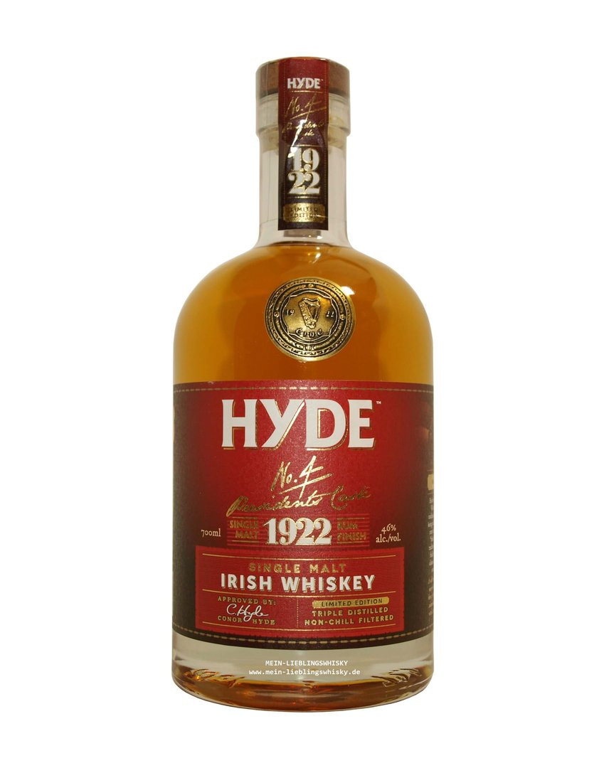 Hyde No. 4 Rum Finish Single Malt Whiskey 46,0% vol. 0,7 Liter
