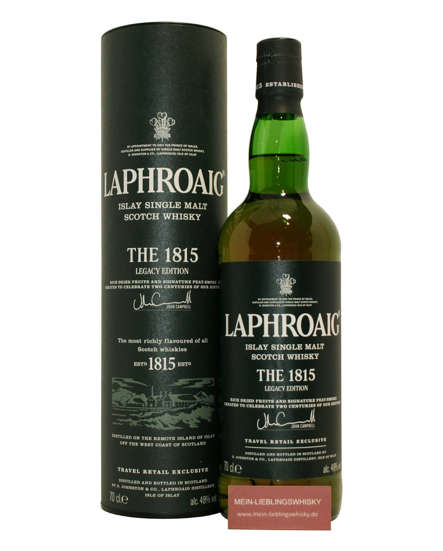 Laphroaig 1815 Legacy Single Malt Whisky  48,0% vol. - 0,7 Liter