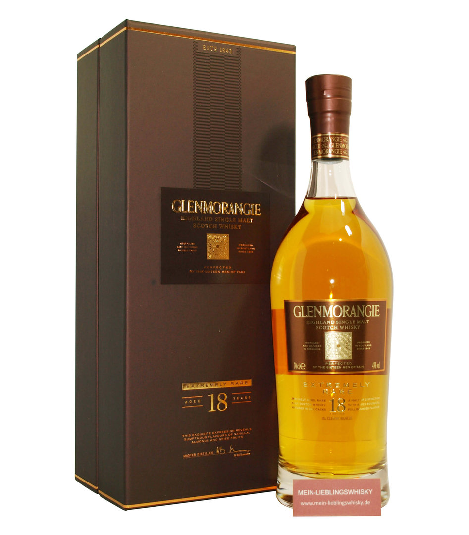 Glenmorangie 18 Jahre Single Malt Whisky 43,0% vol. - 0,7 Liter