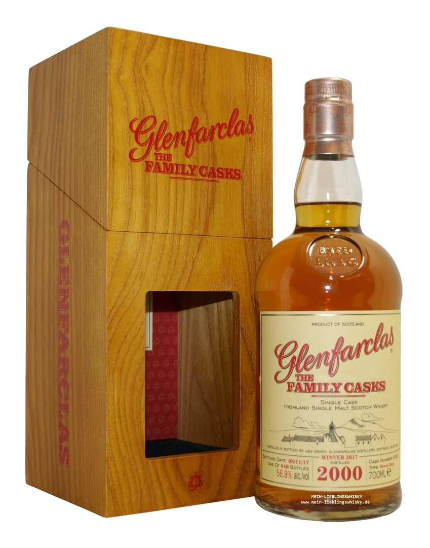 Glenfarclas Family Casks 2000/2017 / W17 - 56,9% vol. 0,7 Liter