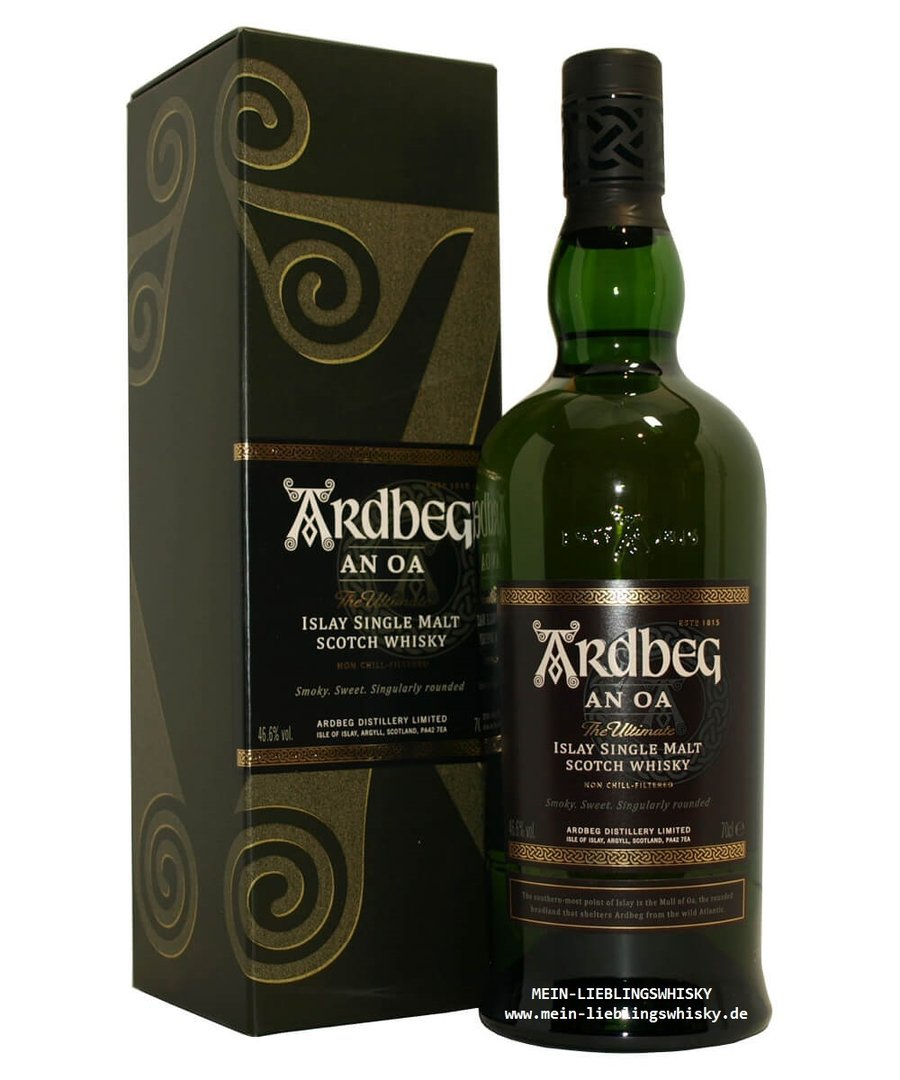 Ardbeg An Oa Islay Single Malt Whisky  46,6% vol. - 0,7 Liter