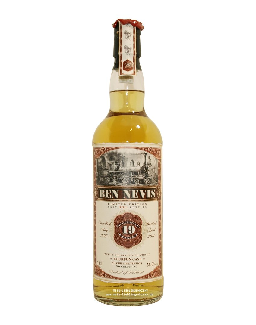 Jack Wiebers Ben Nevis 19 Jahre Single Malt 51,6% vol. - 0,7 Liter