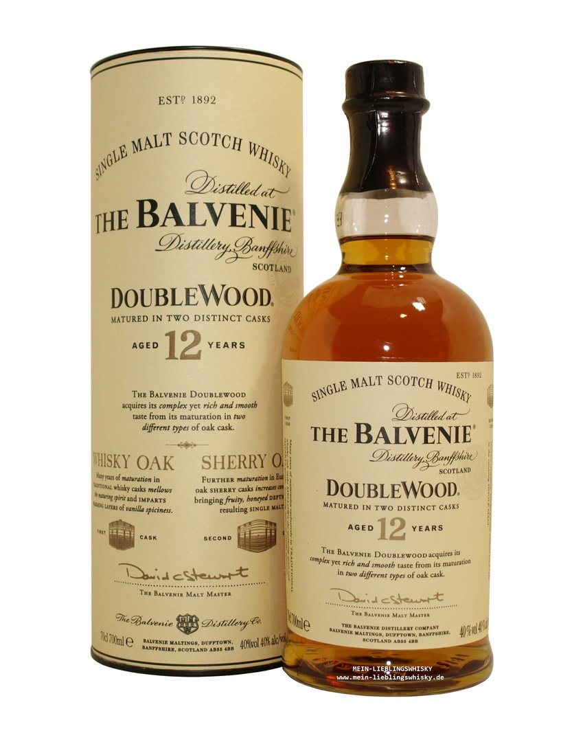 Balvenie Double Wood 12 Jahre Single Malt Whisky 40% vol. - 0,7 Liter