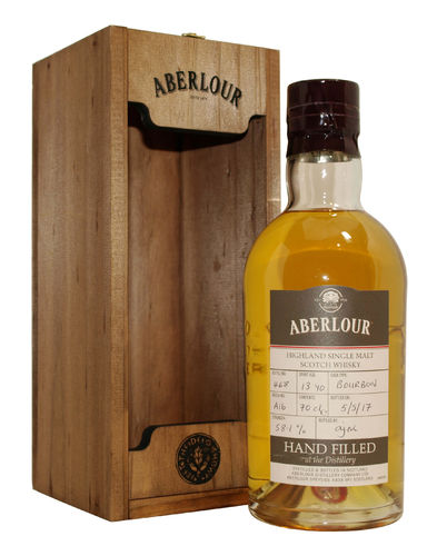Aberlour 13 Jahre Bourbon Cask Single Malt 58,1% vol. - 0,7 Liter