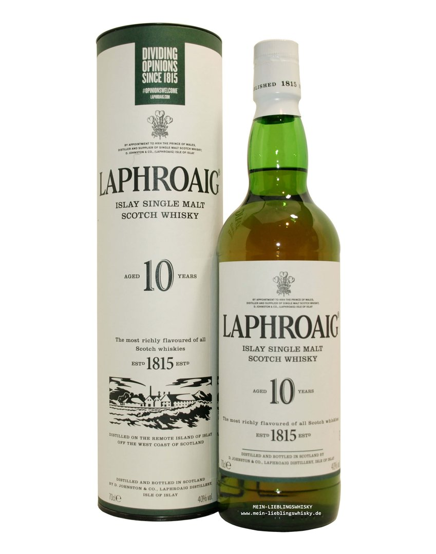 Laphroaig 10 Jahre Single Malt Whisky  40,0% vol. - 0,7 Liter