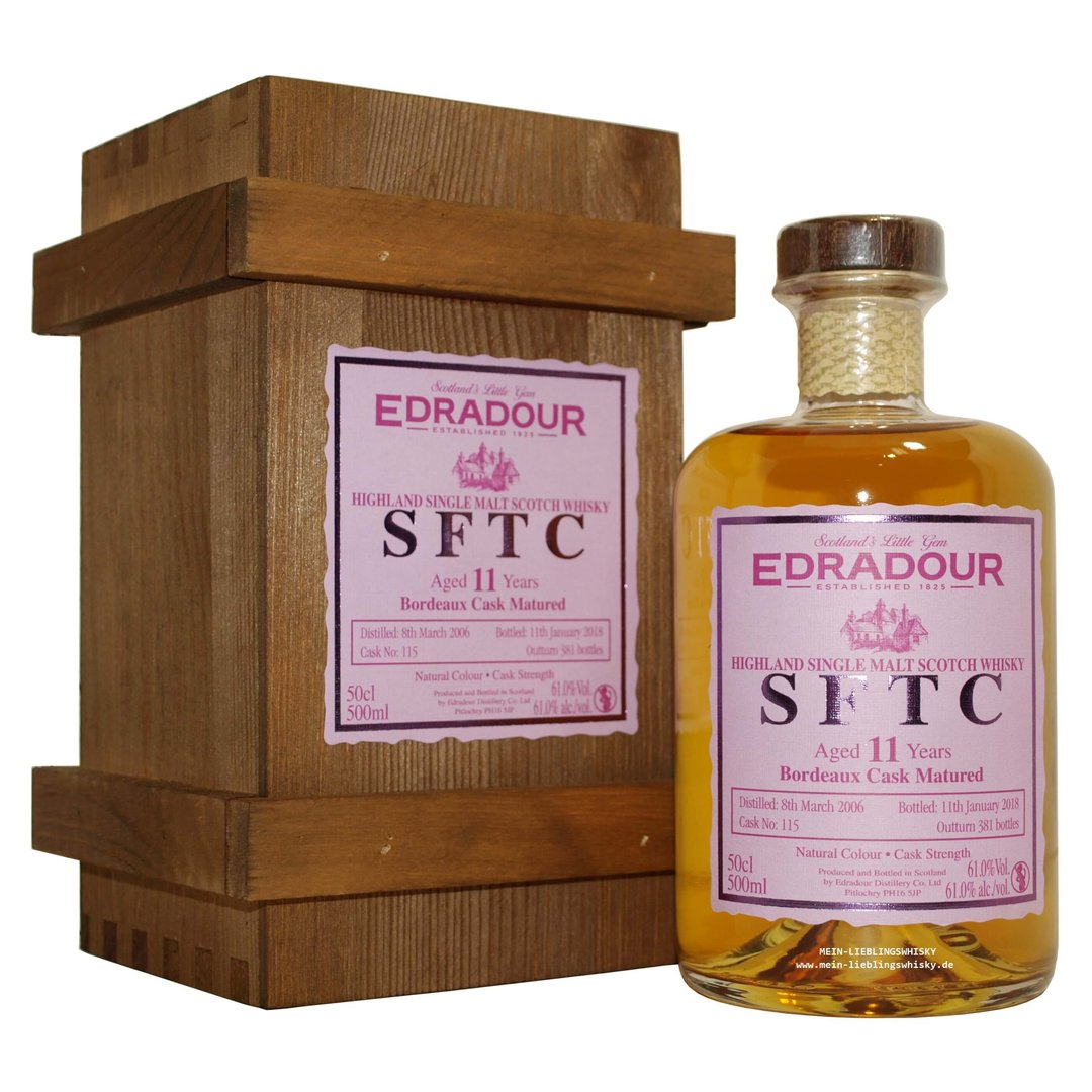 Edradour Bordeaux Cask Single Malt Whisky 61,0% vol. 0,5 Liter