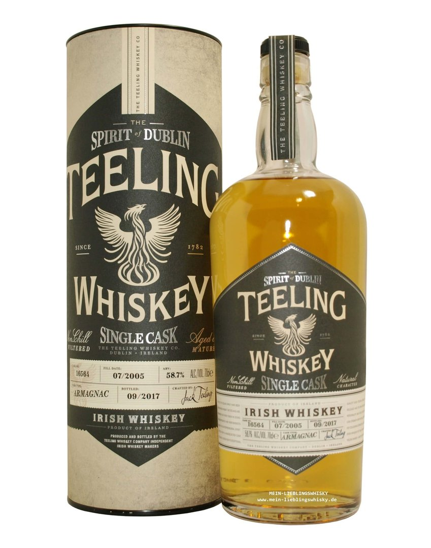Teeling Armagnac Cask Single Malt Whiskey 58,7% vol. - 0,7 Liter