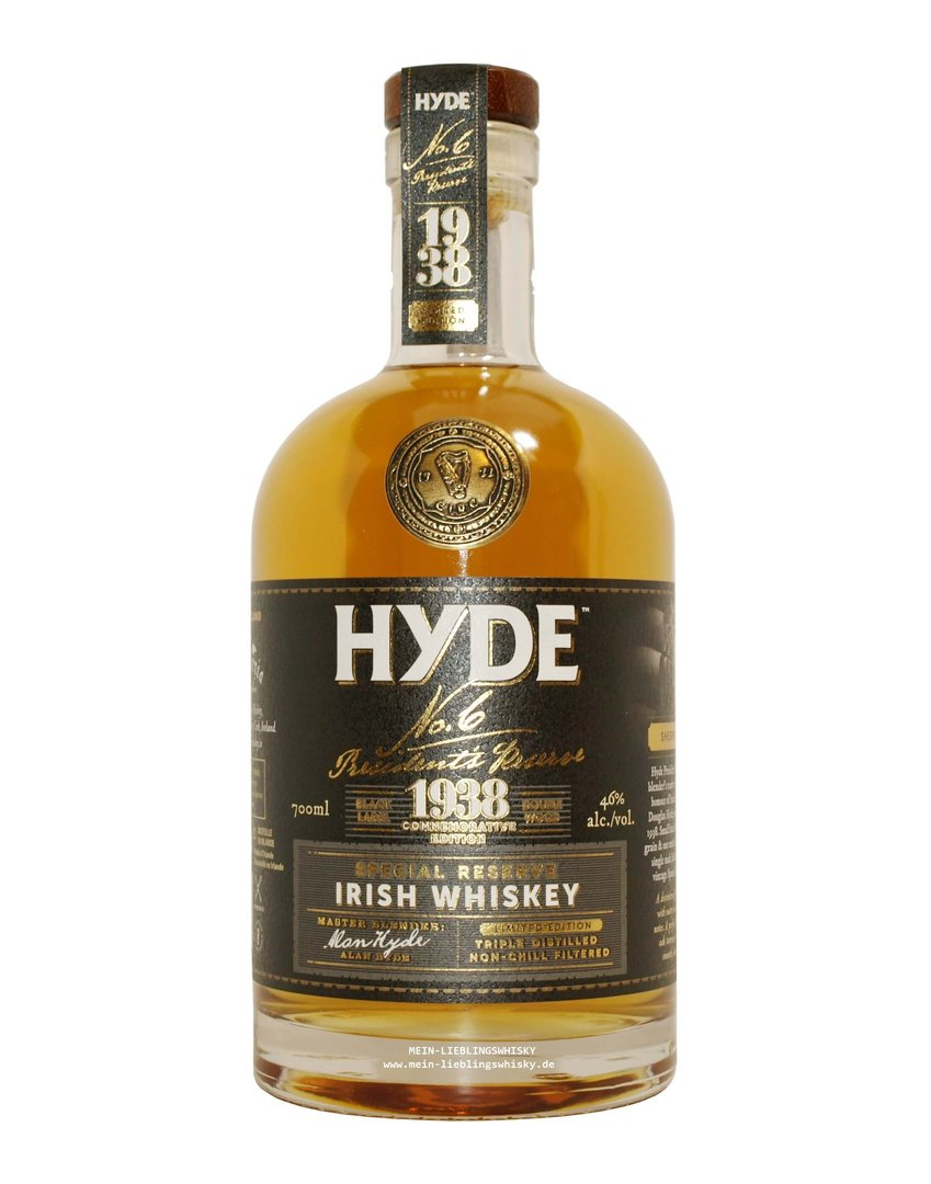Hyde No. 6 Special Reserve Blended Whiskey 46,0% vol. 0,7 Liter