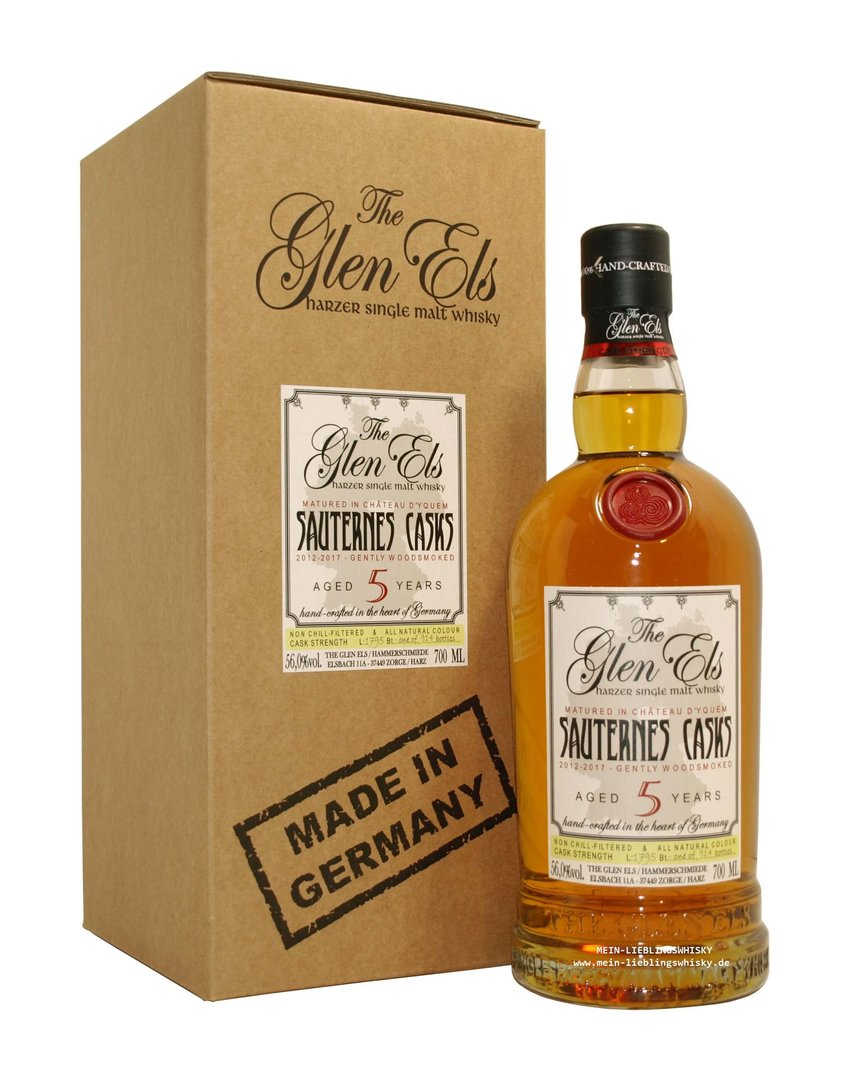 Glen Els Sauternes Casks SE - Cask Strength - 56,0%vol. - 0,7 Liter