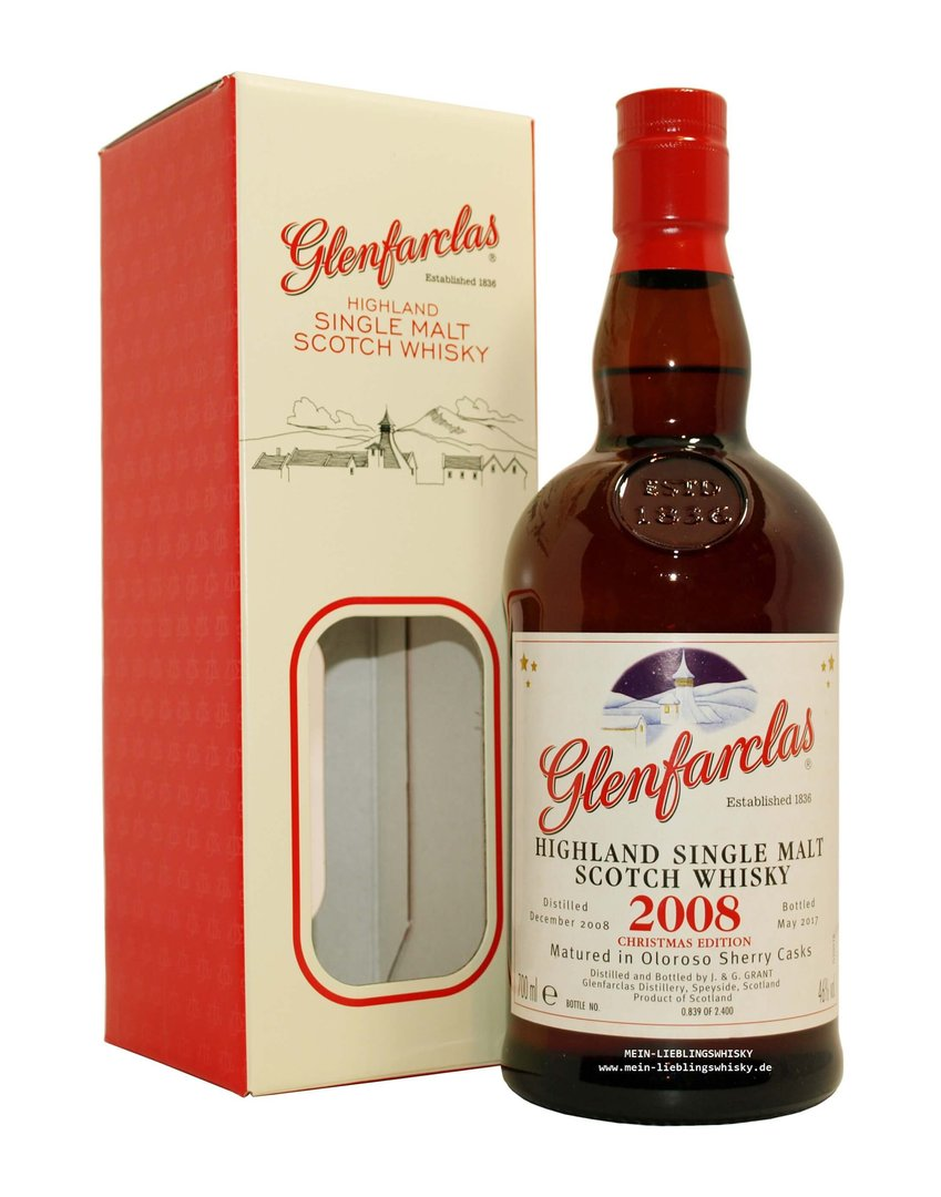 Glenfarclas Christmas Malt 2008/2017 Single Malt 46,0% vol. 0,7 Liter