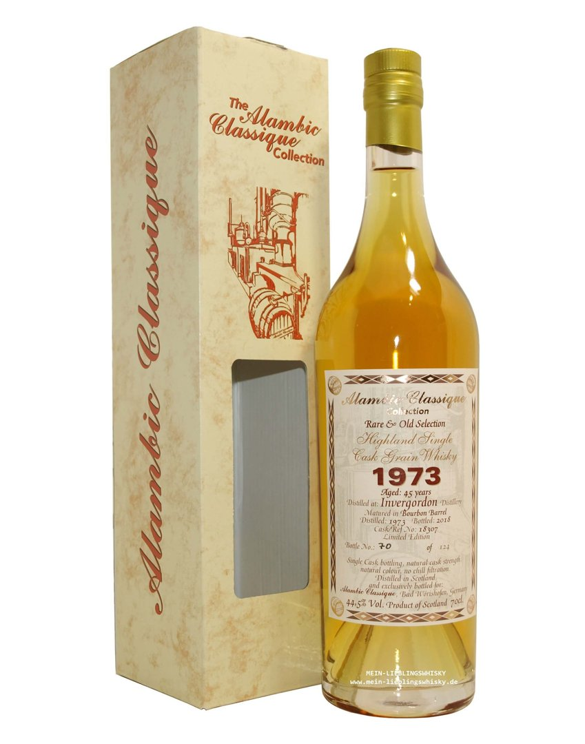 Alambic Classique Invergordon 1973 Single Grain 44,5% vol. 0,7 Liter