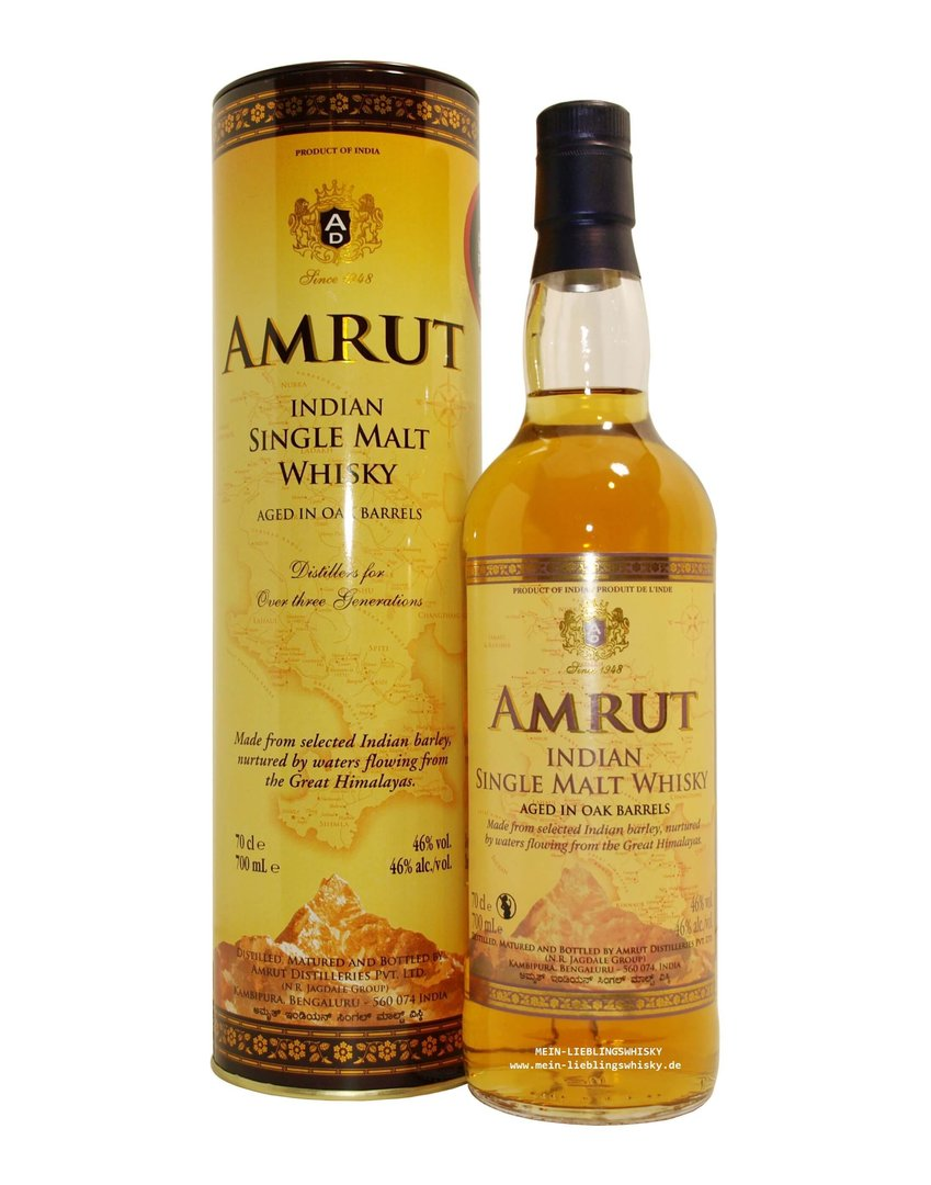 Amrut Indian Single Malt Whisky 46,0% vol. - 0,7 Liter