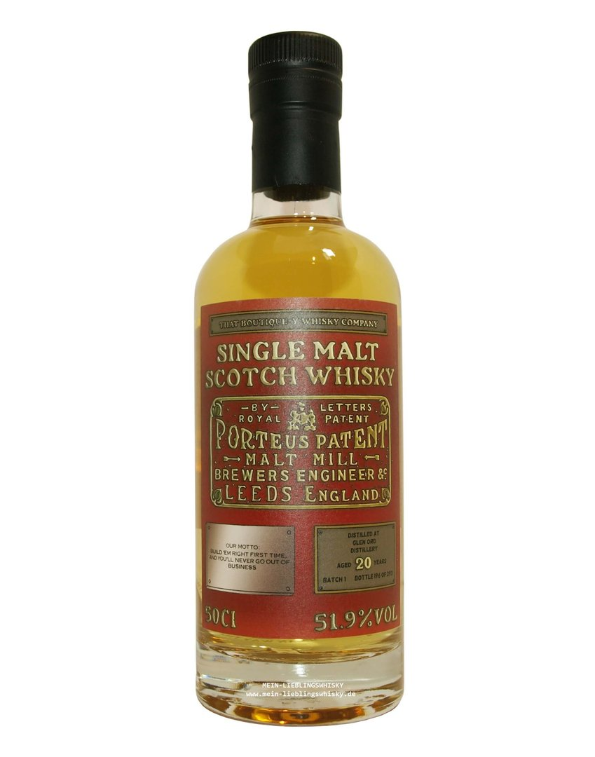 Glen Ord 20 Jahre Boutique-y Whisky Company 51,9% vol. - 0,5 Liter