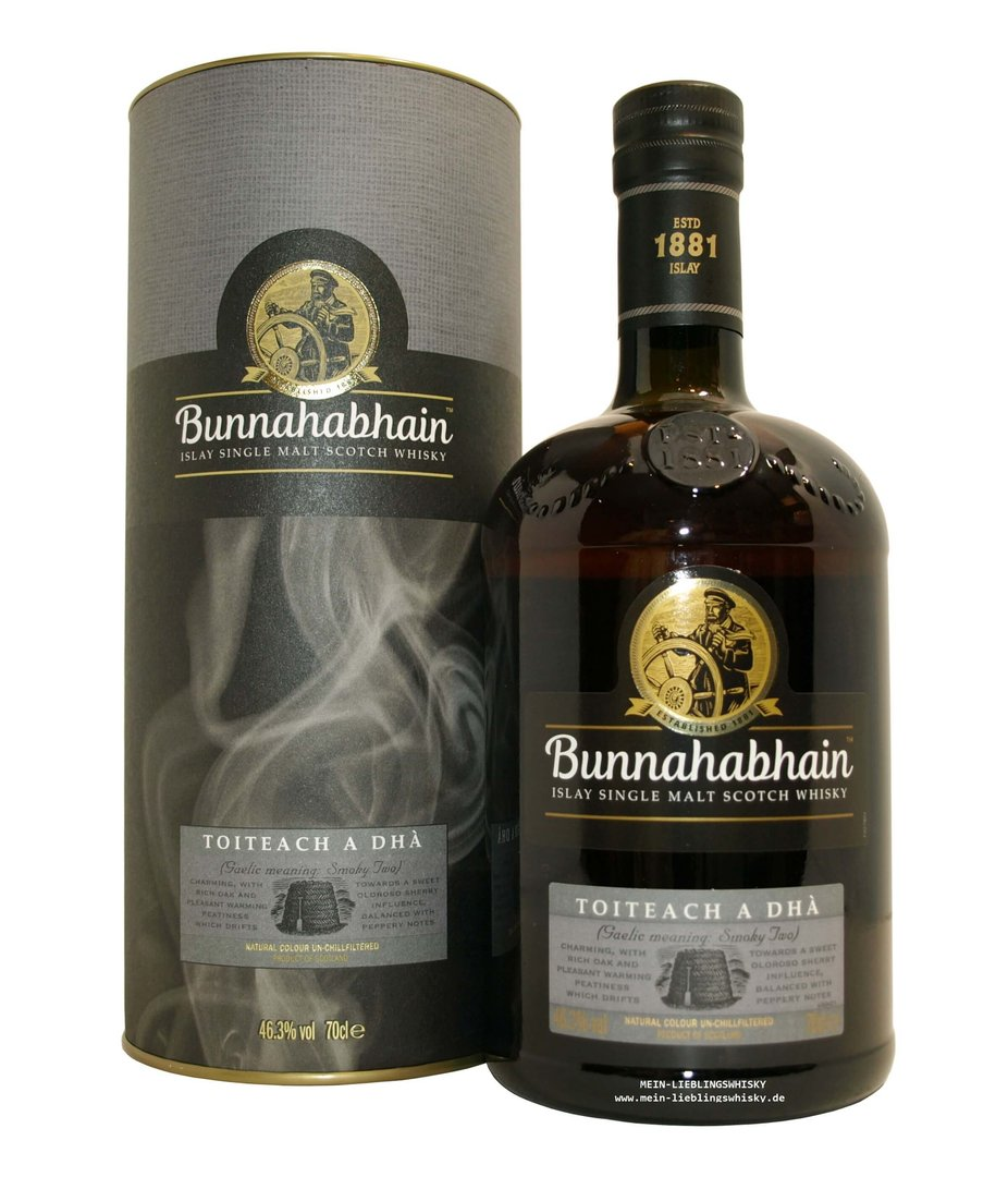 Bunnahabhain Toitech A Dha Single Malt Whisky 46,3% vol. - 0,7 Liter