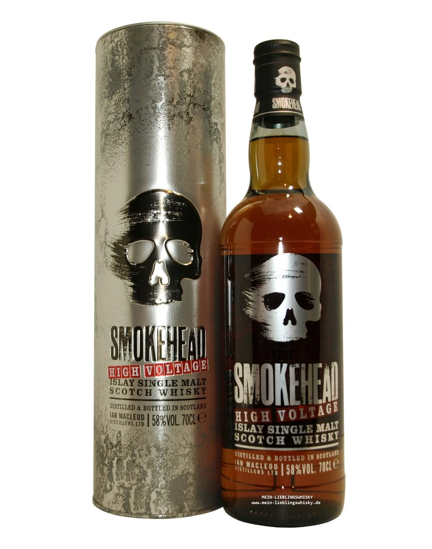 Smokehead High Voltage Single Malt Whisky - 58,0% vol. - 0,7 Liter
