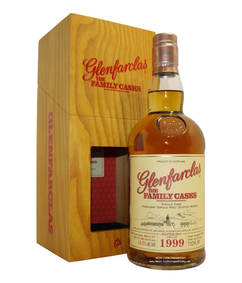 Glenfarclas Family Casks 1999/2017 / W17 - 54,5% vol. 0,7 Liter