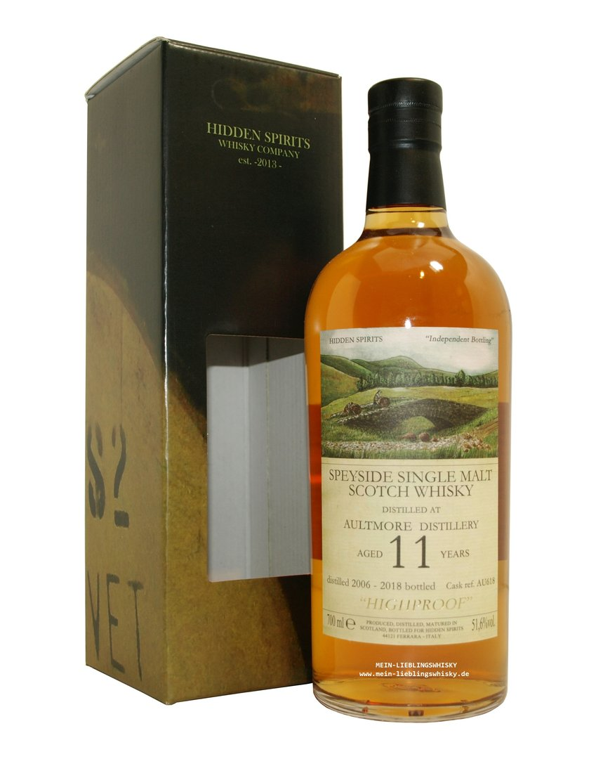Hidden Spirits Aultmore Single Malt Whisky 51,6% vol. - 0,7 Liter