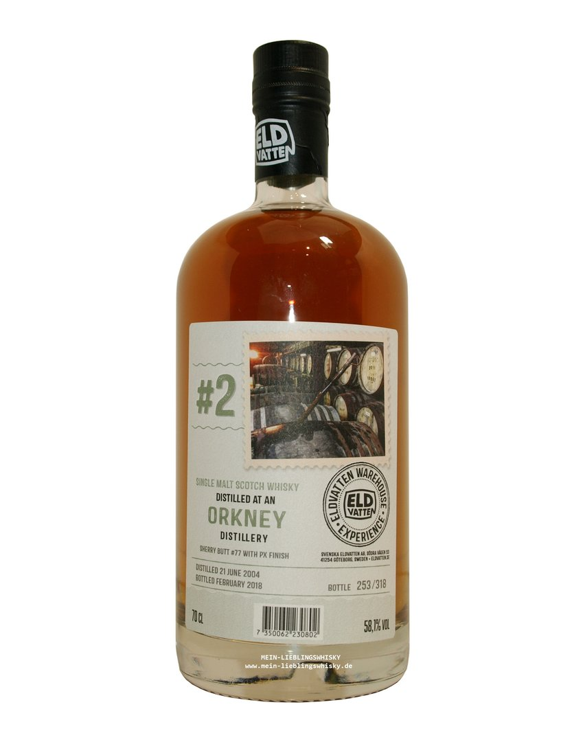 Eldvatten Orkney Single Malt Whisky 58,1% vol. - 0,7 Liter