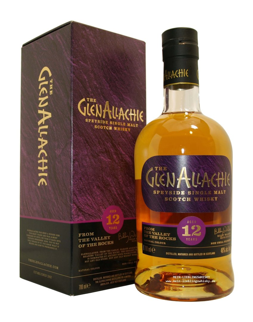 GlenAllachie 12 Jahre Single Malt Whisky - 46,0% vol. - 0,7 Liter