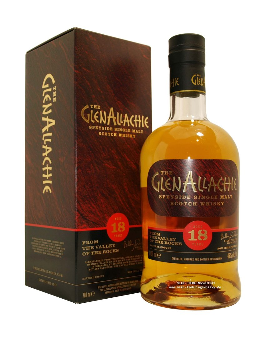GlenAllachie 18 Jahre Single Malt Whisky - 46,0% vol. - 0,7 Liter