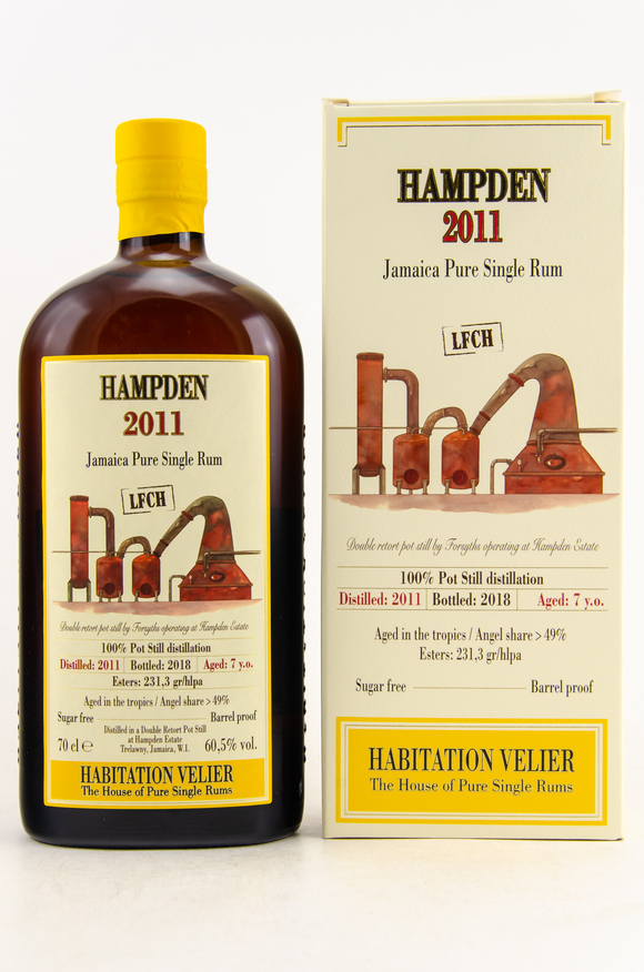 Hampden 2011 LFCH Jamaica Pure Single Rum – 60,5% vol. – 0,7 Liter