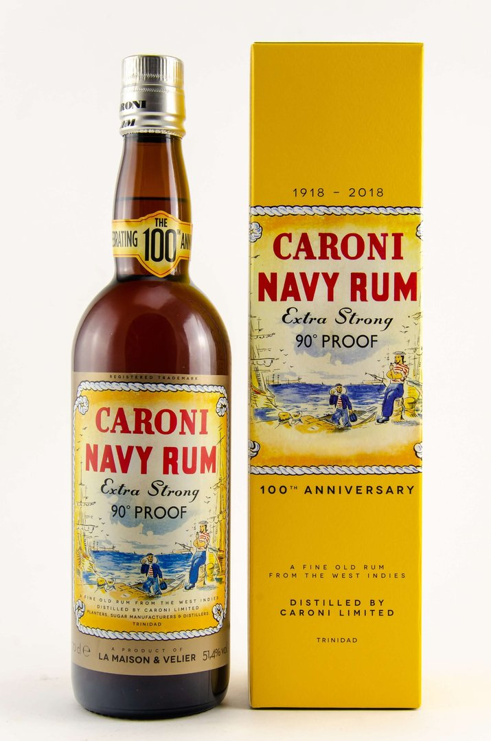 Caroni Navy Rum 18 y.o. 100th Anniversary Bottling – 51,4% vol. – 0,7 Liter