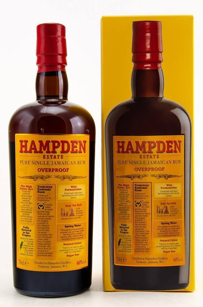 Hampden Estate Overproof Pure Single Jamaican Rum 60% vol. – 0,7 Liter