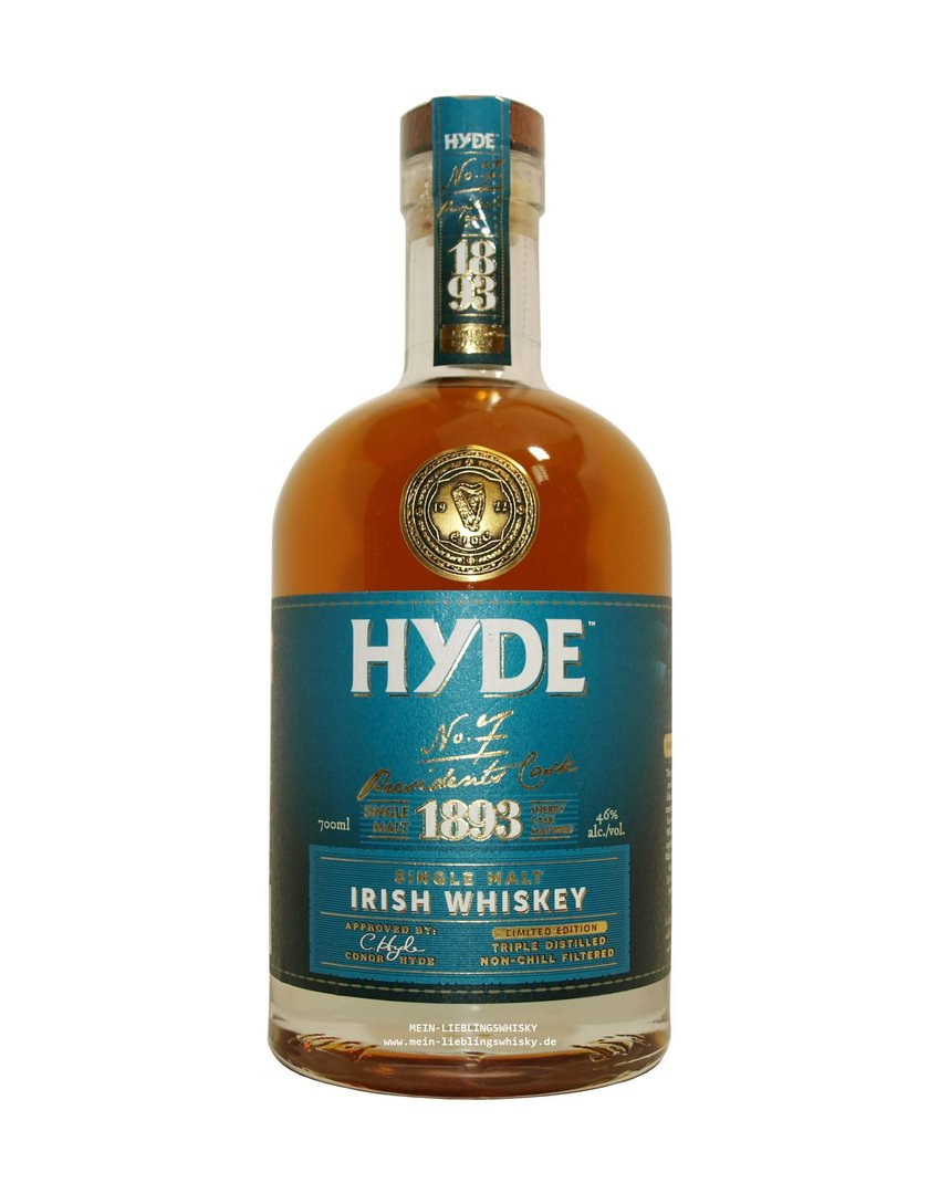 Hyde No. 7 Presidents Cask Single Malt Whiskey 46,0% vol. 0,7 Liter