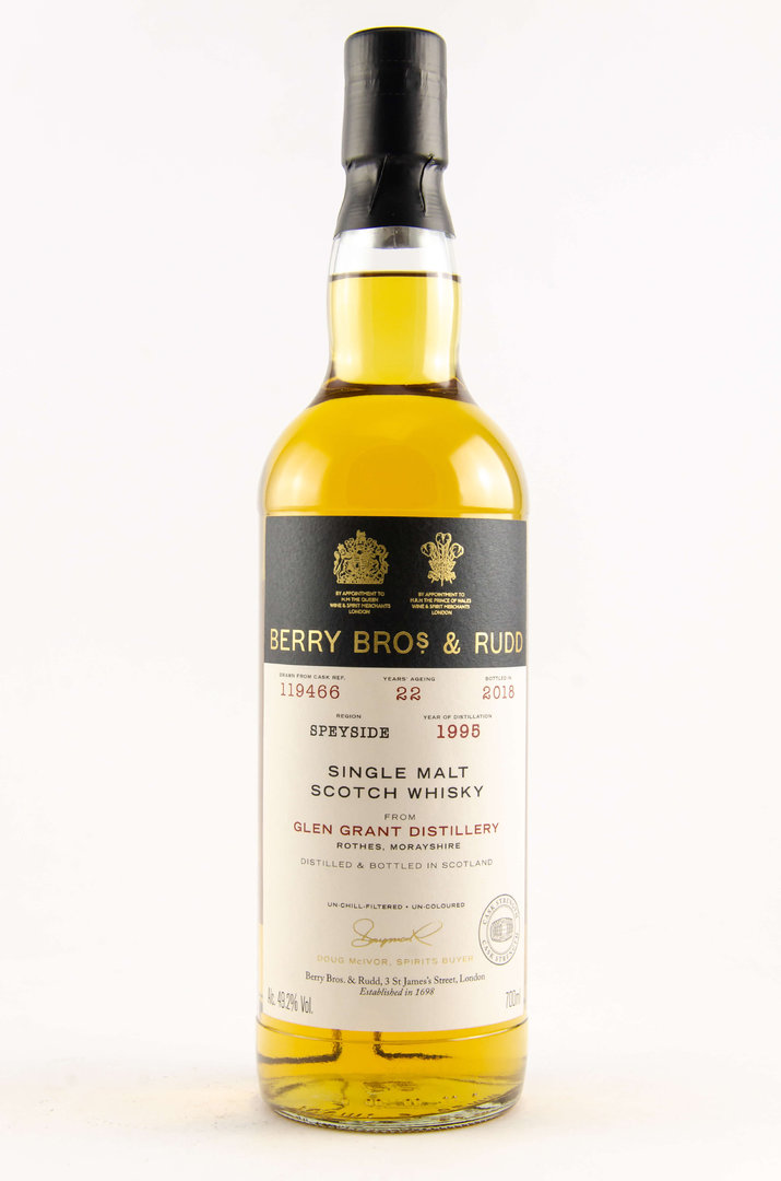Glen Grant 1995/2018 Berry Bros. & Rudd 49,2% vol. 0,7 Liter