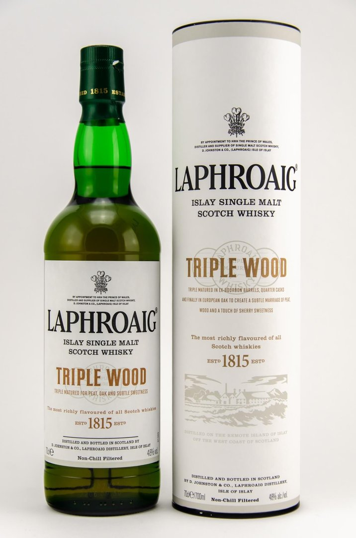Laphroaig Triple Wood Single Malt Whisky  48,0% vol. - 0,7 Liter